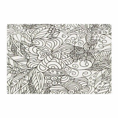 Rosie Brown Zentangle Garden Zentangle White Area Rug Rug Size: 2 x 3