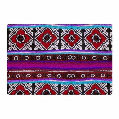S Seema Z Sindhi Ajrak Pattern Purple Area Rug Rug Size: 2 x 3