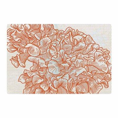 Sam Posnick Lettuce Coral/Orange/Beige Area Rug Rug Size: 4 x 6