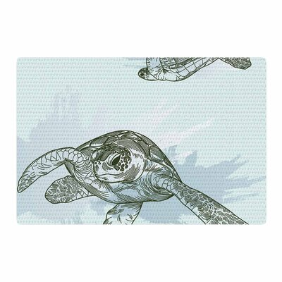 Sam Posnick Sea Turtles Green/Blue Area Rug Rug Size: 2 x 3