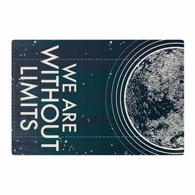 Sam Posnick We are Without Limits Typography Blue Area Rug Rug Size: 2 x 3