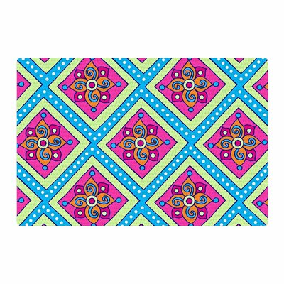 Sarah Oelerich Colorful Diamonds Pink/Blue Area Rug Rug Size: 4 x 6