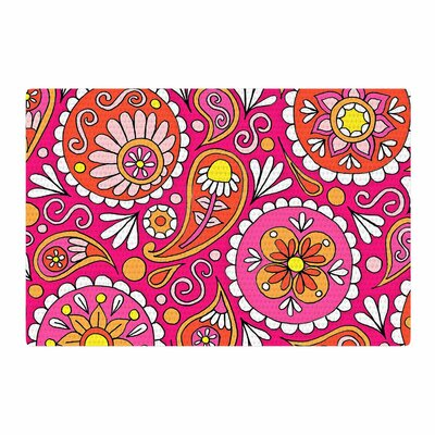 Sarah Oelerich Paisley Pop Orange/Pink Area Rug Rug Size: 2 x 3