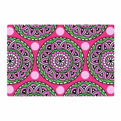Sarah Oelerich Watermelon Mandala Pink/Green Area Rug Rug Size: 4 x 6