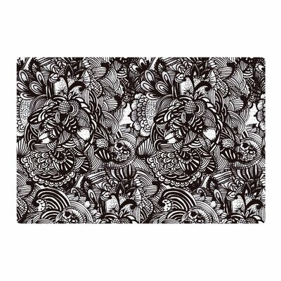 Shielei Patricia Muniz Secret Dream Abstract Black Area Rug Rug Size: 4 x 6