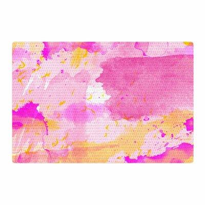 Shirlei Patricia Muniz Yellow/Pink Area Rug Rug Size: 2 x 3