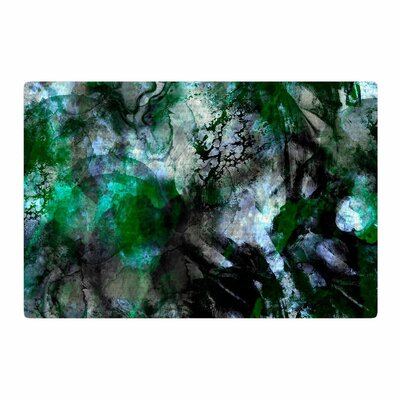 Shirlei Patricia Muniz Camouflage Black/Green Area Rug Rug Size: 4 x 6