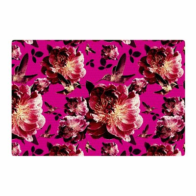 Shirlei Patricia Muniz Floral Photography Magenta Area Rug Rug Size: 4 x 6