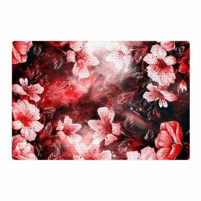 Shirlei Patricia Muniz Garden Secret Red/Black Area Rug Rug Size: 4 x 6