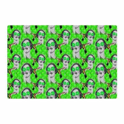 Shirlei Patricia Muniz Good Vibes Vintage Green Area Rug Rug Size: 2 x 3