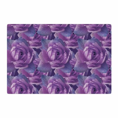 Shirlei Patricia Muniz Roses Floral Lavender Area Rug Rug Size: 2 x 3