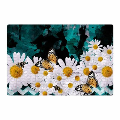 Shirlei Patricia Muniz Secret Garden Floral Yellow Area Rug Rug Size: 4 x 6