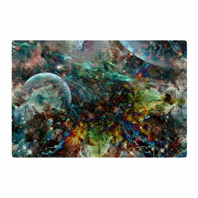 Shirlei Patricia Muniz Space Abstract Blue Area Rug Rug Size: 2 x 3