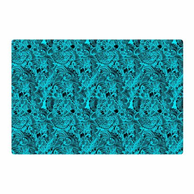 Shirlei Patricia Muniz Zentangle Mystic Abstract Blue Area Rug Rug Size: 4 x 6