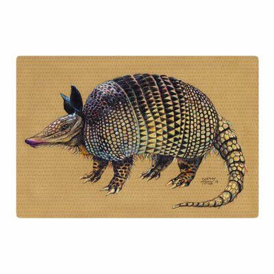 Sophy Tuttle Aramadilio Alebrija Brown Area Rug Rug Size: 4 x 6