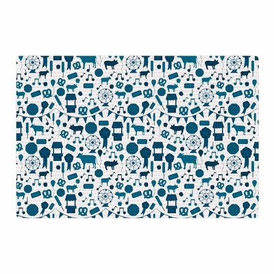 Stephanie Vaeth Country Fair Blue/White Area Rug Rug Size: 4 x 6