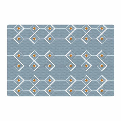Stephanie Vaeth Diamonds Modern Blue Area Rug Rug Size: 2 x 3