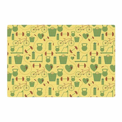 Stephanie Vaeth Fitness Sports Yellow Area Rug Rug Size: 4 x 6
