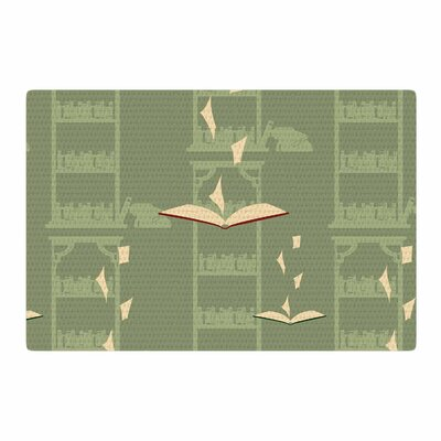 Stephanie Vaeth Library Digital Green Area Rug Rug Size: 2 x 3