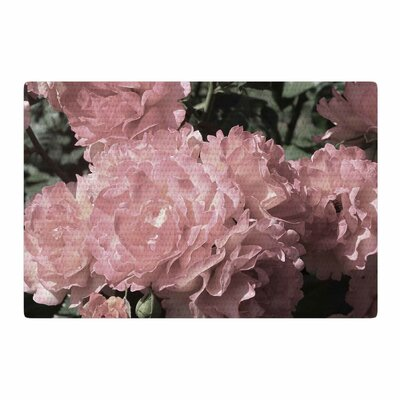 Susan Sanders Blush Flowers Floral Photography Pink Area Rug Rug Size: 4 x 6