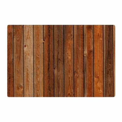 Susan Sanders Rustic Wood Wall Nature/Brown Area Rug Rug Size: 4 x 6