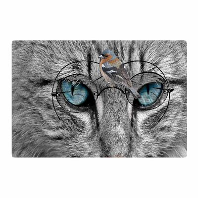 Suzanne Carter Birds Eye View Fantasy Digital Gray/Blue Area Rug Rug Size: 4 x 6