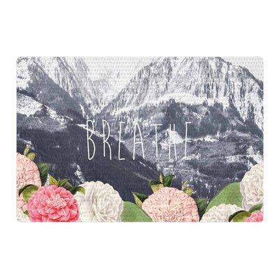 Suzanne Carter Breathe Floral Landscape Gray/Pink Area Rug Rug Size: 4 x 6