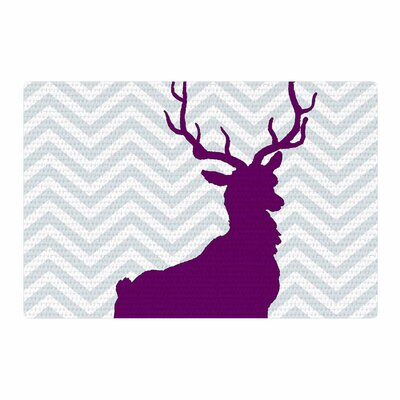 Suzanne Carter Chevron Deer Purple Area Rug Rug Size: 4 x 6