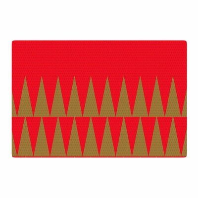 Suzanne Carter Christmas 1 Red/Gold Area Rug Rug Size: 4 x 6