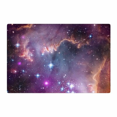Suzanne Carter Cosmic Cloud Celestial Purple Area Rug Rug Size: 2 x 3
