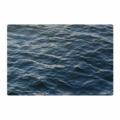 Suzanne Carter Deep Water Nautical Blue Area Rug Rug Size: 4 x 6