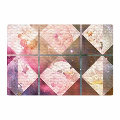 Suzanne Carter Floral Universe Pink/Purple Area Rug Rug Size: 2 x 3