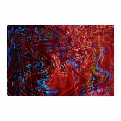 Suzanne Carter Flow Red/Blue Area Rug Rug Size: 4 x 6
