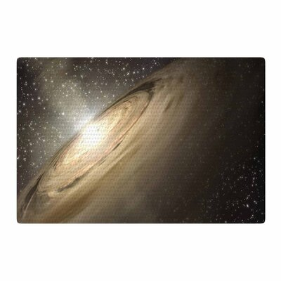 Suzanne Carter Galaxy Black/Tan Area Rug Rug Size: 2 x 3