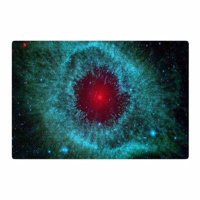 Suzanne Carter Helix Nebula Celestial Black/Teal/Red Area Rug Rug Size: 4 x 6