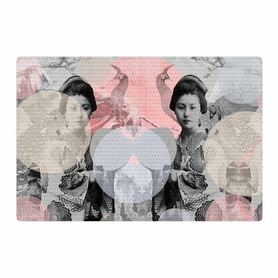 Suzanne Carter Kyoto Girl Gray/Pastel/Pink Area Rug Rug Size: 4 x 6