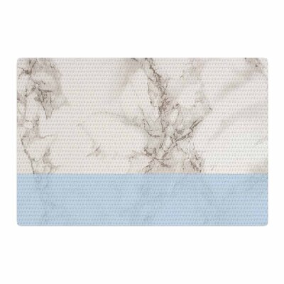 Suzanne Carter Marble and Block Modern Blue/Gray Area Rug Rug Size: 4 x 6