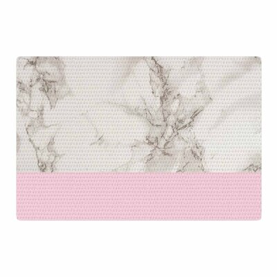 Suzanne Carter Marble and Block Pink/Gray Area Rug Rug Size: 2 x 3