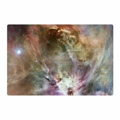 Suzanne Carter Orion Nebula Celestial Brown/Purple Area Rug Rug Size: 4 x 6