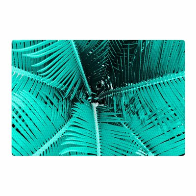 Suzanne Carter Palm Teal/Black Area Rug Rug Size: 2 x 3