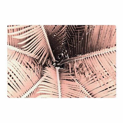 Suzanne Carter Palm Pink/Black Area Rug Rug Size: 4 x 6
