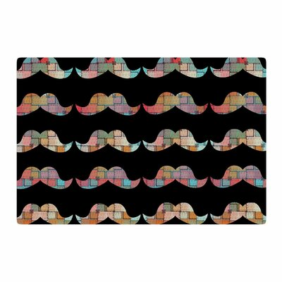 Suzanne Carter Patchwork Mo Mustache Black/Pink Area Rug Rug Size: 2' x 3'