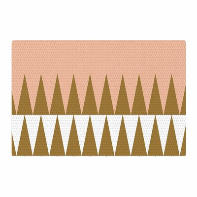 Suzanne Carter Geo Peach/Brown Area Rug Rug Size: 2 x 3