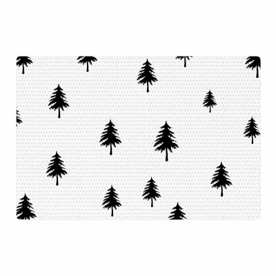 Suzanne Carter Pine Tree Black/White Area Rug Rug Size: 2' x 3'