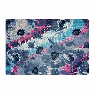 Suzanne Carter Poppy Blue/Pink Area Rug Rug Size: 4 x 6