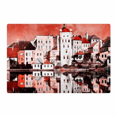 Suzanne Carter Red Sky at Night Red/White Area Rug Rug Size: 4 x 6