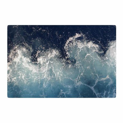 Suzanne Carter Sea Spray Ocean Navy Area Rug Rug Size: 4 x 6