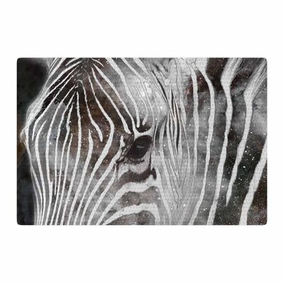 Suzanne Carter Space Zebra Celestial Stripes Black/White Area Rug Rug Size: 4 x 6