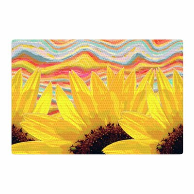 Suzanne Carter Sunflower Dreaming Yellow/Brown Area Rug Rug Size: 4 x 6