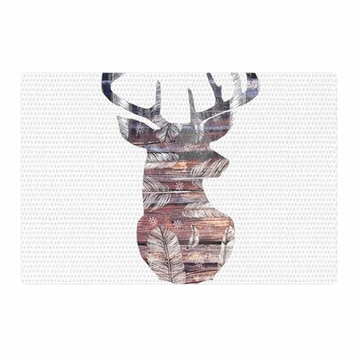 Suzanne Carter the Road White/Brown Area Rug Rug Size: 2 x 3